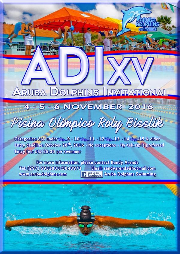 5th Aruba Dolphins Invitational 4, 5 and 6 November 2016