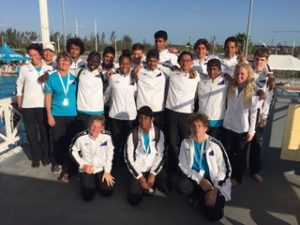 Waterpolo players represent Bonaire at the Bahamas during the International championships